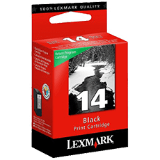 Lexmark 14 svart bläckpatron